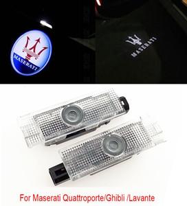 2x автомобиль водить двери логотип свет призрак тень лазерный проектор предупреждающая лампа для Maserati Quattroporte 2010-2013 Ghibli 2014-2016