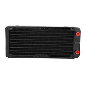 240mm G1 / 4 En Aluminium Ordinateur Radiateur Refroidissement De L'eau Pour CPU LED Radiateur Livraison Gratuite
