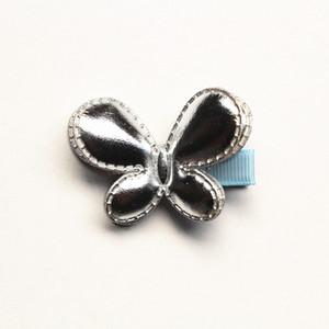 Neue 20 stücke Los Pu Leder Haarspangen Tiere Schmetterling Haarnadeln Kinder Handgemachte Mädchen Gold Filz Headwear Hotsale Zubehör