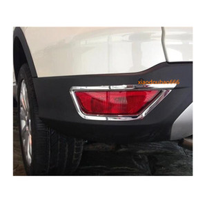 Coche de CHROME ABS CUBIERTO DE CHROME KUGA 2 UNIDS 2013 FOG LÁMPARA TRASERA 2014 Pegatina de marco Tail Back para Ford Trim Light 2015 2016 Jwwml
