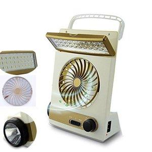 1 Çok fonksiyonlu Ev ev için Fan Taşınabilir Şarj edilebilir Işık LED Masa Lambası Fener Güneş Işığı 3 Güneş