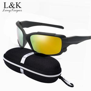 Long Keeper 2018 Nuovi occhiali da sole polarizzati da uomo HD Lens Occhiali da sole Occhiali da guida sicuri Occhiali sportivi Mountain Gafas
