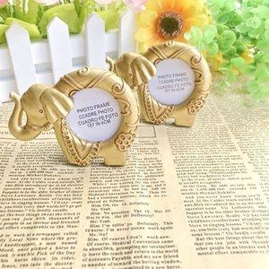 SPEDIZIONE GRATUITA (15pcs / Lot) + portafortuna dorata fortunata della carta del posto della cornice dell'elefante Favore di tema indiano WeddingBridal Shower