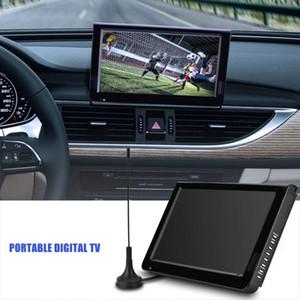 """Téléviseur de voiture portable 10.1 """"16: 9"""" 1024 x 600 Téléviseur couleur analogique TFT-LED avec adaptateur US ou EU"""