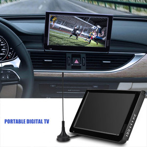 "Freeshipping 10.1 ""16: 9 Portable Car TV 1024 x 600 TFT-LED Lettore TV analogico digitale con adattatore per presa USA o UE"