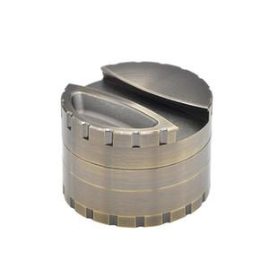 Grueso de aleación de zinc Grinder Dia.80MM 4 capas Molinillos de tabaco Trituradora Hierba Molinillo de especias con soporte Almacenamiento CNC trituradora al por mayor Herb Spice