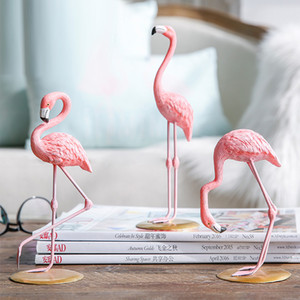 Home 1 Piece Resin Pink Flamingo Home Decor Figure for Girl Ins Hot Home Decor Gifts for Girl