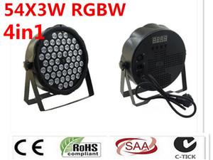Lavado RGBW W LED 54x3 DJ LED Luz Del Disco Controlador DMX par açtı