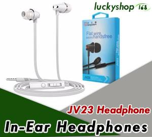 Eaphone controle de volume Langsdom jv23 com microfone para iphone samsung telefone móvel com pacote de varejo 100pcs