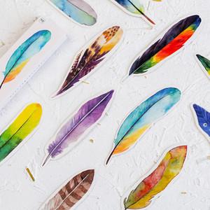 30 adet Renkli Tüy Kağıt Imi Yaratıcı Kitap Işareti Kızlar Için Sevimli Kawaii Imi Hediye Kırtasiye Ofis Okul Malzemeleri