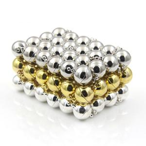 50pcs 구형 마그네틱 걸쇠 자석 버클 커넥터 목걸이 팔찌에 맞는 DIY Jewelry Findings