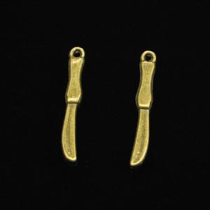 190 قطع سبائك الزنك سحر العتيقة برونزية مطلية عملية سكين سحر لصنع المجوهرات diy اليدوية المعلقات 25 ملليمتر