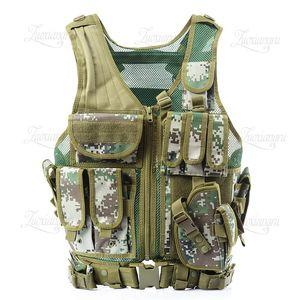 Descarga Chaleco de combate táctico para hombres Chaleco de camuflaje militar táctico Body Cs Jungle Equipment Hotsale MilitaryTopa