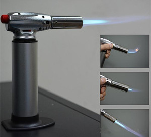 1300C Butane Scorch torch jet flame lighter kitchen torch Giant Heavy Duty Butane Refillable Micro Culinary Torch Self-igniting DHL Free