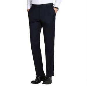 Robe formelle pour hommes pantalons longs de haute qualité pantalon de costume droit anti-rides robe de bureau de bureau 2018New