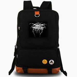 Холст мешок школы Cromlech рюкзак Darkthrone рюкзака черный металлический рок-музыки группы Schoolbag для портативных компьютеров рюкзака Открытый день пакет