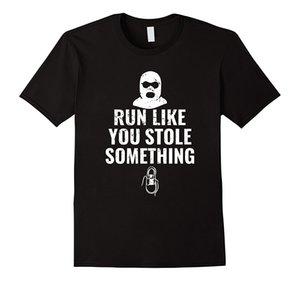 Runing Like You Satış Doğal Pamuk Tee Gömlek Yaz Stili T Gömlek için bir şey tişörtler Komik Runner Hediye Üst Tee Çaldı