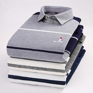 Chemises chaudes Chandails tricotés pour hiver grignotants pour hommes Chemise décontractée à rayures à manches longues Gris Rouge Noir Rouge