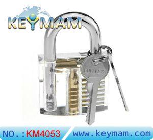 Candado clara transparente Práctica Lock - Bloqueo de la práctica del entrenamiento de cerrajería para principiantes