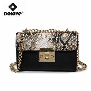Dolove 2017 New Chain Women Bag Leopard Messenger Borsa Fashion One spalla obliqua pacchetto trasversale