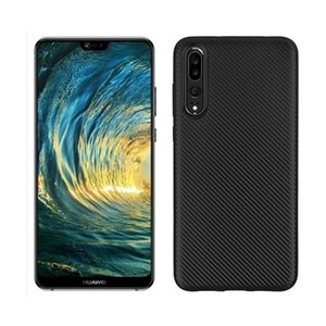 PURE KASE Lightweight Ultra Slim Thin Carbon Fiber Soft TPU Protective Case for Huawei P20 Pro