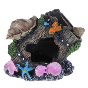 Imitación Cubo Moss Tree Branch Acuario Ornamento Moss Fish House Camarones Nest Resin Cave Fish Fish Aquarium Decoration