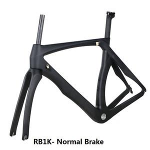 NK1K BICICLETA de fibra de carbono quadro de bicicleta de estrada garfo braçadeira selim de Carbono Estrada bicicleta Quadro disco através do quadro do eixo