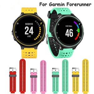 İki renk Kordonlu Saat Yumuşak Silikon Garmin Öncüsü Için Yedek Silikon Saat kayışı 220/230/235/620/630