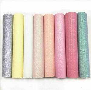 Pastel Fine Flash Vinile Tessuto Glitter Pelle Materiale Artigianato Decorazione dell'arco Decorazione della casa, Pianura Multicolore Opzionale