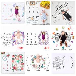 100 cm Anzahl Fotografie Decken Neugeborenen Blume Wrap Hintergrund Requisiten Foto Prop Kulissen Ostern Infant Weiche Decke AAA982