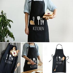 Moda Unisex Mulheres Homem Aventais Restaurante Comercial Casa Bib Spun Poly Cozinha Aventais de algodão cintura aventais cozinhas