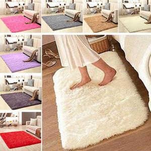 50 * 80 cm Wildleder Samt Teppich Boden Rutschfeste Badematte Lange Plüsch Warme Schlafzimmer Wohnzimmer Boden Teppich Fußmatte Yoga Staub Matte WX9-284