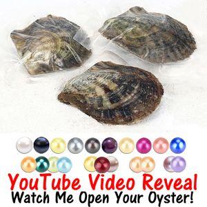 6-8mm mezclar 28 colores redondos Perlas en Akoya Oyster single, gemelos, trillizos y quads Pearls Oysters Individual Wrap