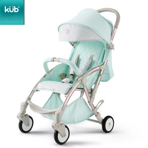 Kub Stroller Baby Stroller Lightweight Dobrável Assento Reclinando Criança Criança de Quatro Roda Suspensão Suspensão Carro