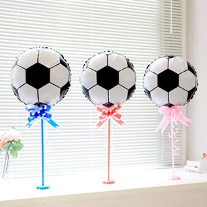 World Cup Football Balloons Round Foil Balloons Soccer Ball Round Helium Balloons Mylar Globos Size 45x45cm Free Shipping