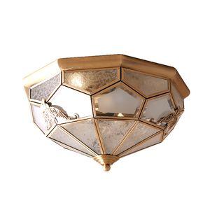 Retro Plafoniere in rame Led Plafoniera per balcone Corridoio Ingresso Antique Rustic Apparecchio fixtue Lamparas de techo F130