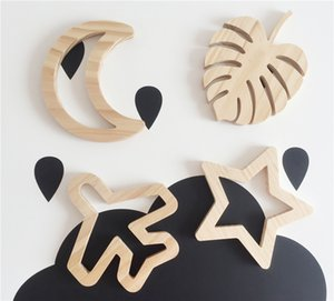 Wood Wall Decor for Children Room Kids Rooms Decorative Stickers Wall Mount Decoration for Home or Wedding GS05