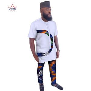 2018 Summer Mens African Clothing Plus Size 6XL African Clothes o-neck Mens cotton Clothing for Men 2 Pieces Plus Size WYN473