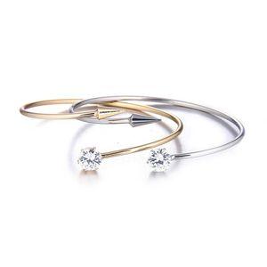 Best-seller Mode Minimaliste Bracelet Femmes Bracelets Cristal Nail Manchette Bracelets avec flèche Bijoux Bracelet Tendance Femmes Accessoires