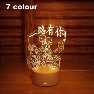 3D Led Night Light Change Novelty Table Lamp Home Decor Bedside 3d Lamp Child Gifts 2018 New 7 Color Have you all the way