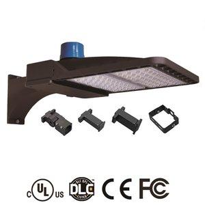 أضواء LED لوقوف السيارات Shoebox 100W 150W 200W IP66 للماء في الهواء الطلق شارع القطب الخفيفة مع UL DLC المدرج الكهروضوئية الاستشعار السيارات على / قبالة
