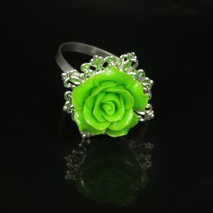 11Brand 10шт Развлекать розы Цветочные кольца для салфеток Держатели кольцо для держателей Weddings партии Столешница украшая инструменты