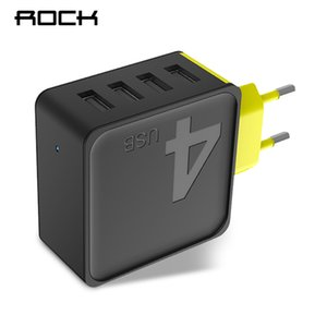 wholesale Sugar 4 USB Wall Phone Charger 5V 4A Fast Travel Adapter Charger for iPhone Samsung Xiaomi Fast Charger for Phones Tablets