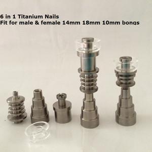 سعر المصنع الكوارتز ti مسامير التيتانيوم شقة 10 ملليمتر 20 ملليمتر 16 ملليمتر 6 في 1 ذكر أنثى المتاحة ل 14 ملليمتر ، 18 ملليمتر ، 10 ملليمتر joit enail denail مجموعات
