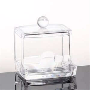 Acrylic Pads Cosmetic Storage Holder Cotton Swab Holder Box Makeup Organiser Storage cotton swab box