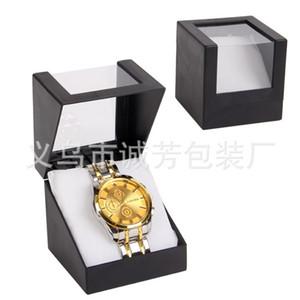 Negro Rojo Ventana individual Reloj de pulsera Almohada Colección Dispaly Organizador de almacenamiento Contenedor de plástico transparente Smart Boxes 2 95cf bb