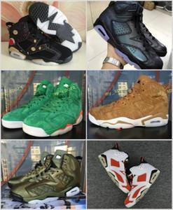 Zapatos de baloncesto Gatorade verdes de alta 6 CNY Año Nuevo chino Camaleón para hombres mujeres 6s trigo marrón negro blanco rojo zapatillas tamaño 36-47