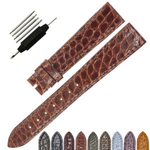 Nuovo arriva ZLIMSN cinturino in vera pelle di alligatore coccodrillo cinturino in pelle 12mm-26mm cinturino senza fibbie fatto a mano