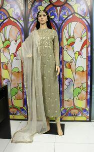 THE SHIGNER  Bollywood Designer Hand Make Zardozi Floral Dress Set Churidar Kurti Salwar Kameez Suit Ethnic Party Dress