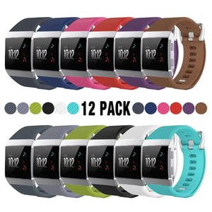 Fitbit Ionic Band 12 Pack Classic Farben Small / Large TPE Armband Strap Ersatzband für Fitbit Ionic Smart Fitness Tracker FC0158Z12